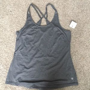 Gray workout tank